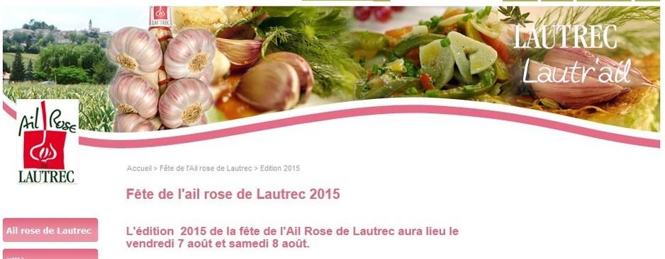 Fête de l'Ail Rose de Lautrec - FRANCE