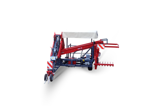 One row harvester - carried machine